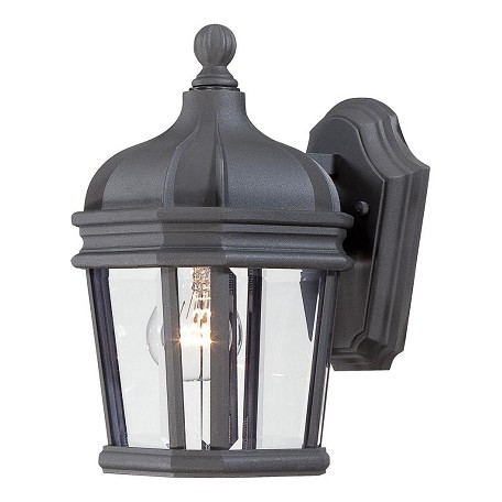 1 Light Outdoor Wall Sconce With Black Finish