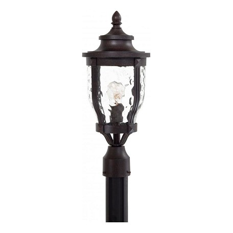 1 Light Outdoor Post Light With Bronze Finish