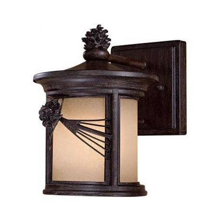 1 Light Wall Mount With Bronze Finish