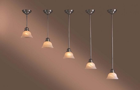 Brushed Nickel 1 Light 42In. Height Indoor Mini Pendant