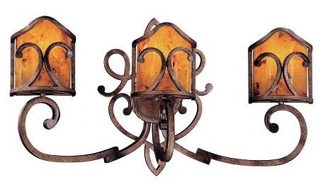 Cartouche Bronze 3 Light 30.5In. Width Bathroom Vanity Light From The Gran Canaria Collection