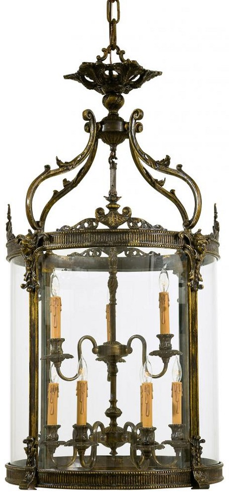 Oxide French Gold 9 Light 44.5In. Height Lantern Pendant From The Foyer Collection