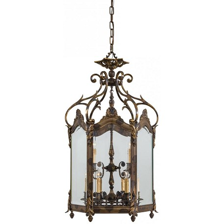 Oxide Brass 9 Light Lantern Pendant From The Metropolitan Collection