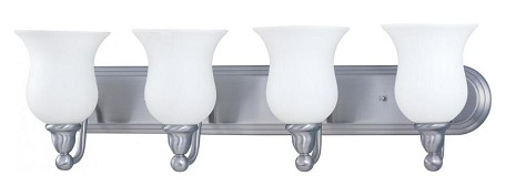 "Glenwood Collection 4-Light 30"" Brushed Nickel Vanity with Satin White Glass 60-1815"