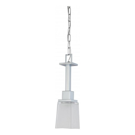"Parker Collection 1-Light 16"" Polished Chrome Pendant with Sandstone Etched Glass 60-4009"