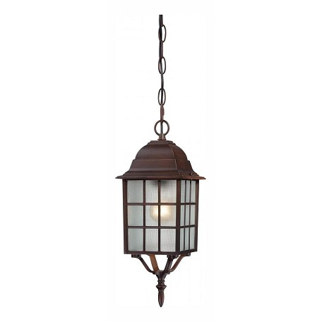Nuvo Adams - 1 Light - 16'' Outdoor Hanging W/ Frosted Glass - 60/4912