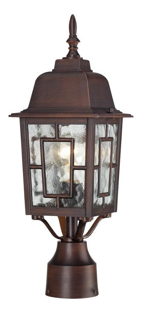 Nuvo Banyan - 1 Light - 17'' Outdoor Post W/ Clear Water Glass - 60/4928