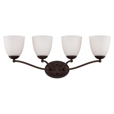 Nuvo Patton - 4 Light Vanity Fixture w/ Frosted Glass - 60/5134