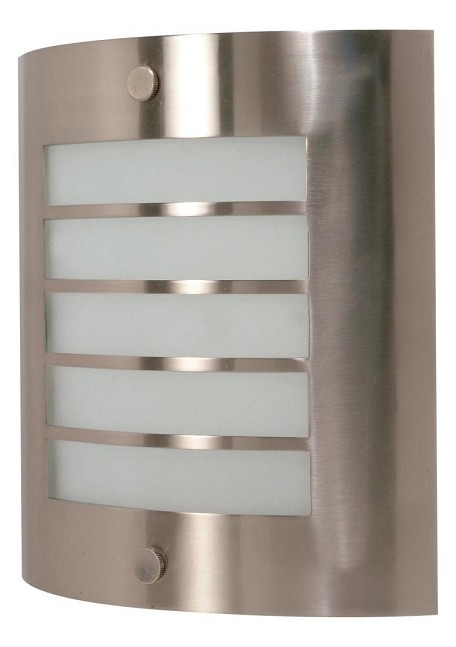 "Nuvo Collection 1-Light 10"" Brushed Nickel Vanity with Frosted Glass 60-944"