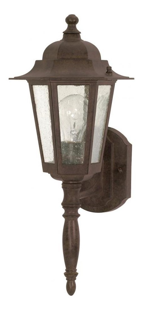 "Cornerstone Collection 1-Light 18"" Old Bronze Outdoor Wall Light with Clear Seed Glass 60-986"
