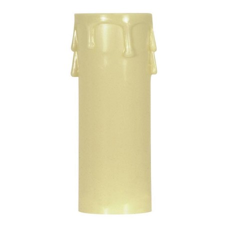 Satco Products Inc. 3'' ED. CANDLE COVER IVORY/ IVORY DRIP - 90-1516