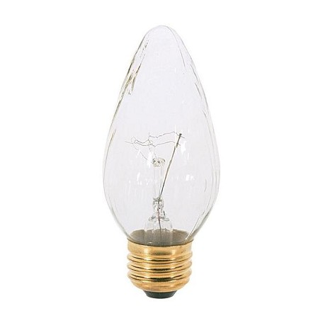 Satco Products Inc. 25 watt; F15; Clear; 1500 average rated hours; 180 lumens; Medium base; 120 volts - S3363