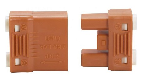 Satco Products Inc. 2-PC ORANGE WR. SPL CONNECTOR - 90-2536
