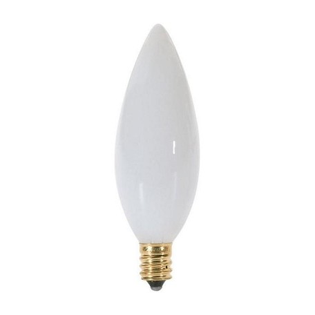 Satco Products Inc. 60 watt; B10; White; 1500 average rated hours; 630 lumens; Candelabra base; 120 volts - S3790