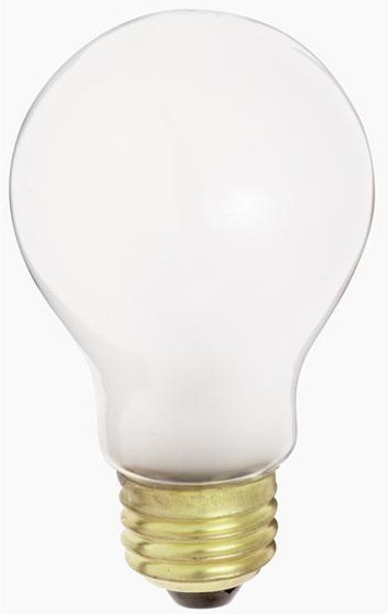 Satco Products Inc. 50 watt; A19; Frost; 2500 average rated hours; 400 lumens; Medium base; 130 volts - S3969