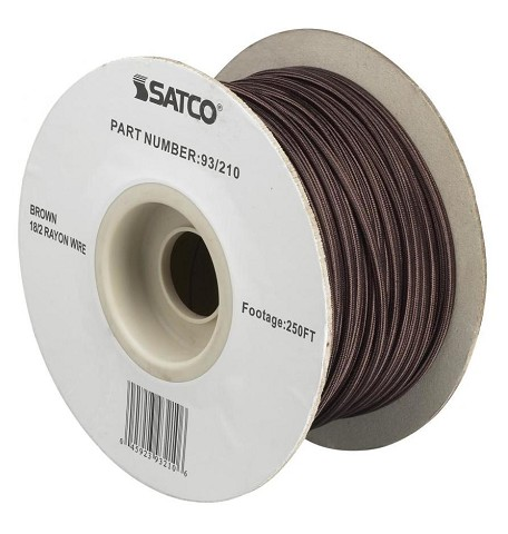 Satco Products Inc. #18/2 BROWN RAYON 250' SPOOL - 93-210