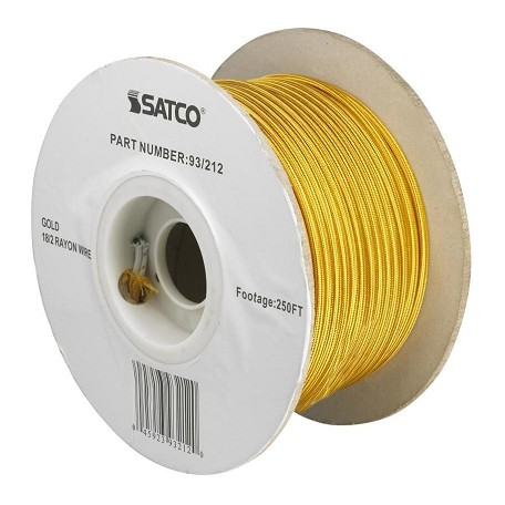 Satco Products Inc. #18/2 GOLD RAYON 250' SPOOL - 93-212