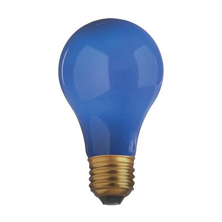 Satco Products Inc. 40 watt; A19; Ceramic Blue; 2000 average rated hours; Medium base; 130 volts - S4981