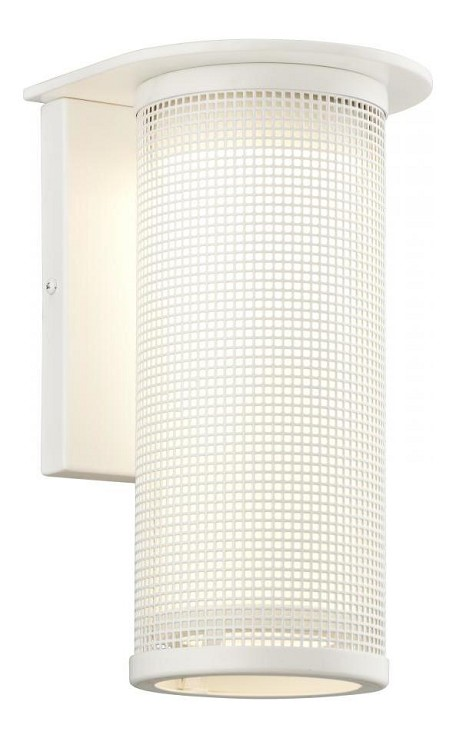 One Light Satin White Outdoor Wall Light