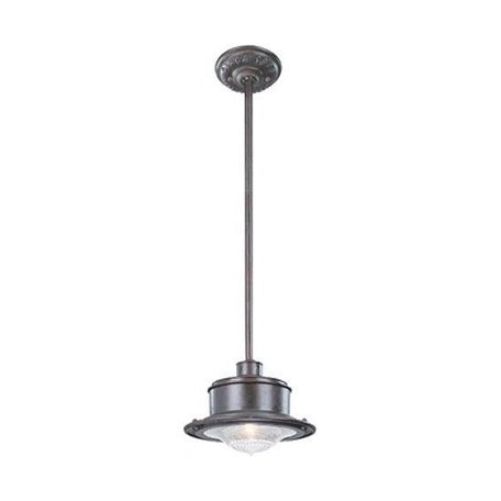 One Light Old Galvanize Outdoor Pendant