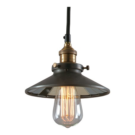 Calvin 1 Light Industrial Pendant With Mirror Glass