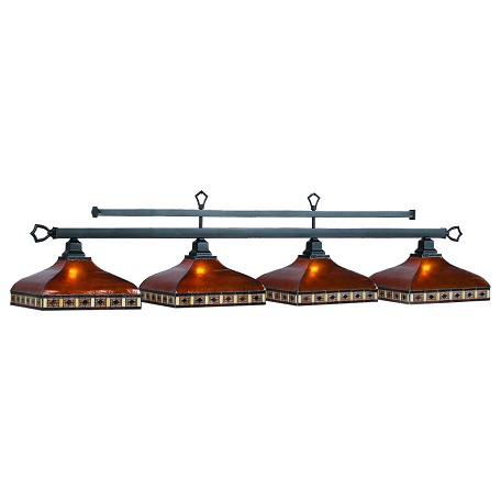 "Tahoe Collection 4-Light 78"" Amber Billiard Fixture with Mica Shade TAH-B78"