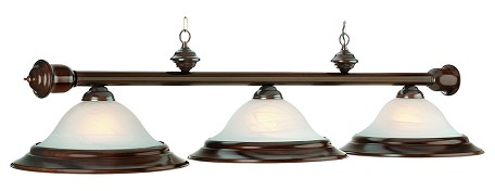 "Wood Collection 3-Light 60"" Cherry Billiard Fixture with Glass Shades RG260 CHERRY"