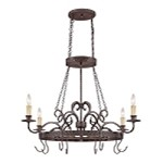 "Brookshire Manor Collection 4-Light 41"" Burnished Armor Chandelier 23634-BA"