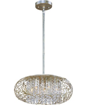 "Arabesque Collection 7-Light 18"" Golden Silver Chandelier 24154BCGS"