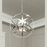 "Sputnik Collection 6-Light 19"" Polished Chrome Pendant 25130PC"