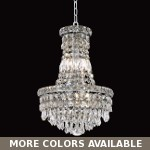 "Invisible Design 6-Light 16"" Chrome or Gold Mini Chandelier with European or Swarovski Crystals SKU# 10358"