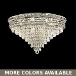 Invisible Design 12-Light 24'' Chrome or Gold Ceiling Flush Mount with European or Swarovski Crystals SKU# 10369