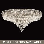 "Invisible Design 21-Light 36"" Chrome or Gold Ceiling Flush Mount with European or Swarovski Crystals SKU# 10371"