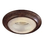 "6"" Nouveau Bronze Recessed Trim with Etched Marble Glass 2718-63"