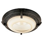 "6"" Aspen Bronze Recessed Trim with Rustic Scavo Glass 2728-138"