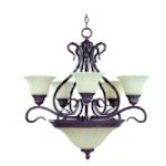 Chandelier - Via Roma Collection - 2776SVGB