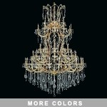 "Maria Theresa 61-Light 54"" Chrome, Gold, Golden Teak, Black, or White Crystal Chandelier with 30% Lead or European Crystals SKU# 36981"