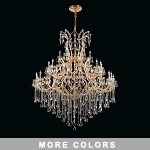 "Maria Theresa 49-Light 60"" Chrome or Gold Chandelier with European or Swarovski Crystals SKU# 10412"