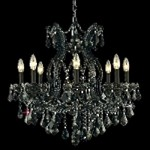 "Maria Theresa Collection 9-Light 26"" Black Crystal Chandelier 2800D26B"