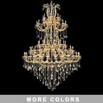 "Maria Theresa 85-Light 96"" Chrome, Gold, Golden Teak, Black, or White Crystal Chandelier with 30% Lead or European Crystals SKU# 36993"