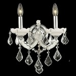 "Maria Theresa Collection 2-Light 16"" White Crystal Wall Sconce 2800W2WH"
