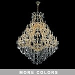 "Maria Theresa 49-Light 46"" Chrome, Gold, Golden Teak, Black, or White Crystal Chandelier with 30% Lead or European Crystals SKU# 36977"