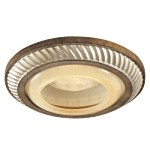 "6"" Aston Court Bronze Recessed Trim with Avorio Mezzo Glass 2818-206"
