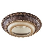 "8"" Illumination Bronze Recessed Trim with Silver Patina Glass 2828-177"