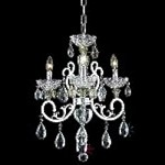 "Aria Collection 3-Light 20"" Chrome Clear Crystal Mini Chandelier 2830D19C"