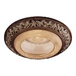 "6"" Florence Patina Recessed Trim with Salon Scavo Glass 2848-477"