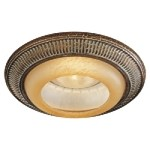 6 inch Golden Bronze Recessed Trim with Caspian Glass