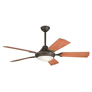 "Bellamy Collection 54"" Olde Bronze Ceiling Fan with Reversible Walnut & Cherry Blades 300019 OZ"