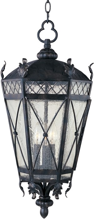 "Canterbury 3-Light 24"" Artesian Bronze Outdoor Hanging Lantern 30459CDAT"