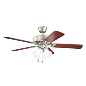 Kichler Four Light Brushed Nickel Ceiling Fan - 339240NI